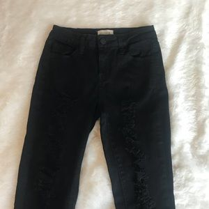Black Distressed Skinny Jean